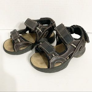 Buster Brown Velcro Strap Little Boy Sandals
